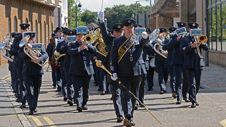 Royal Air Force Wyton excercised its right to the freedom of Huntingdon on Sunday.
