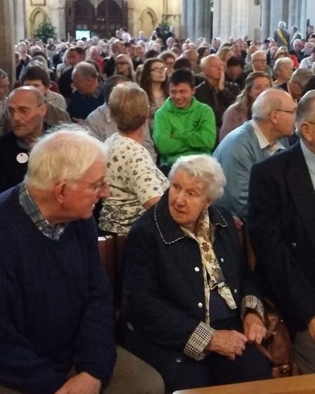 EU Referendum debate at St Albans Cathedral: the church was packed