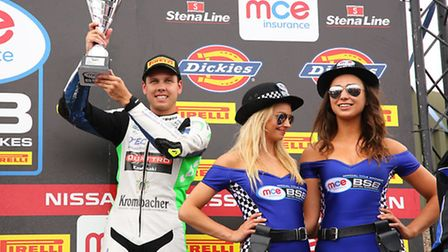 British Superbikes rider, Luke Mossey from Royston, bags a victory. Picture: Tim Keeton