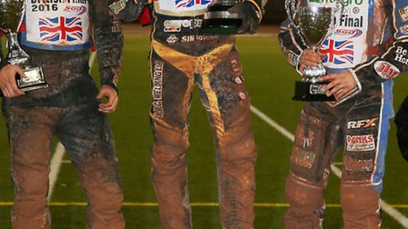 Danny King on the top step of the podium following his British Final success last month with Great B