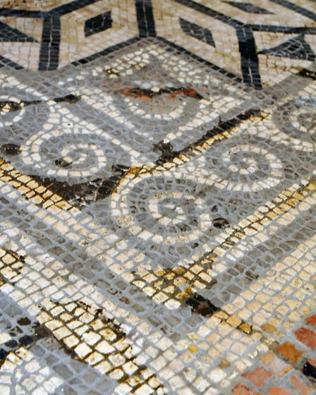 Alban Arena, St Albans. Old Roman mosaic on show.