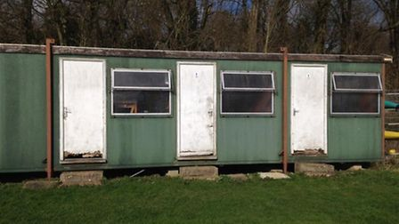 The tatty changing rooms before the revamp.