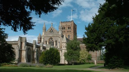 The East end of St Albans Cathedral, where the repairs will be taking place.