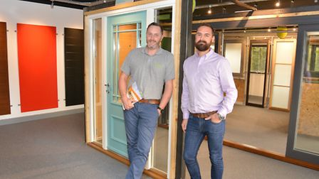 Kloeber new premises, in Huntingdon, (l-r) Co Owners Lee Green, and Matt Higgs.