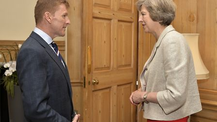British Astronaut, Major Tim Peake was welcomed by Prime Minister Theresa May to 10 Downing Street f