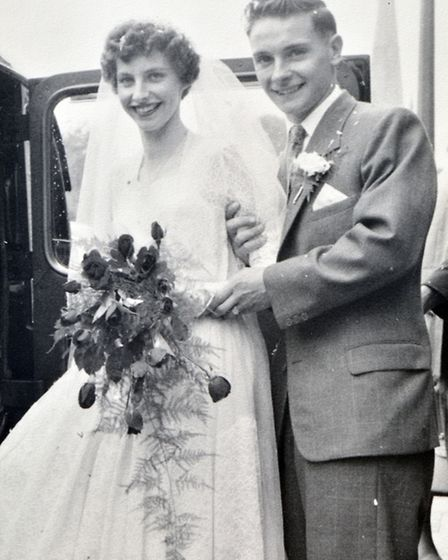 Diamond Anniversary of Joyce and Geoff Hookham from St Ives