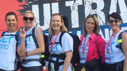The ladies from Royston walked all the way from London to Cambridge, non-stop throughout the night,