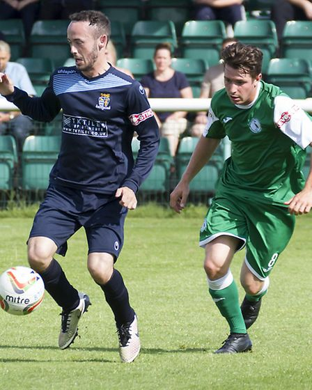 Peter Clark in action for St Neots.