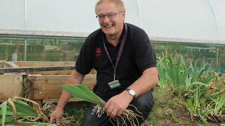 Philip Whaites is celebrating 35 years as a gardener at the Wimpole Estate.