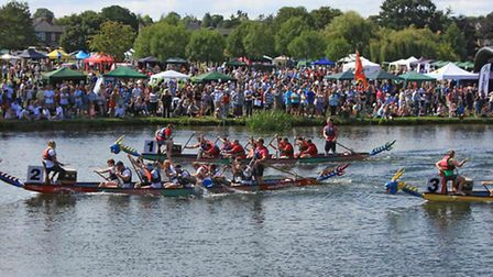 The St Neots Dragon Boat Race is on August 20