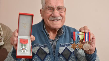 Sidney Wildber, from Eynesbury, has just received a medal from the French government for his part in