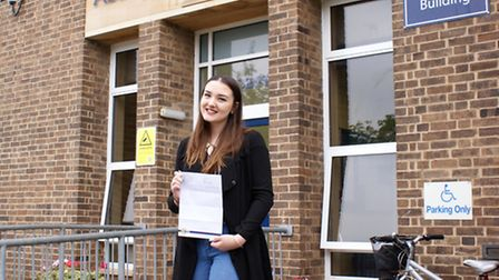 Abbey College head girl Shelby Martin, who achieved three Distinction grades.