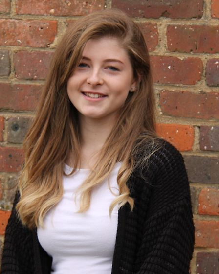 Caitlin Vann opened her results at Freman College and got two A*s and one A grade.