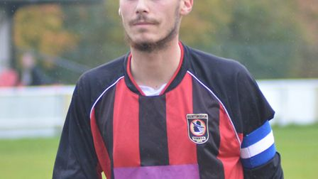Jordan Brockett came closest to a goal for Huntingdon in their defeat to Newport Pagnell.