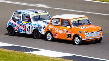 Papworth racer Sam Tomlinson during the fourth round of the BARC Mighty Mini Championship. Picture: