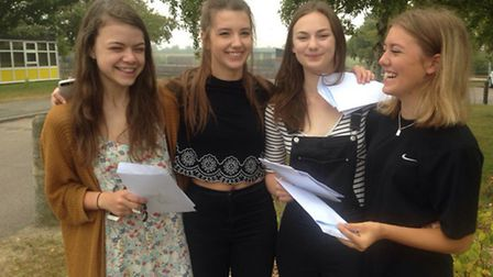 Smiles all round at Meridian School this morning when year 13 students opened their A-level results.