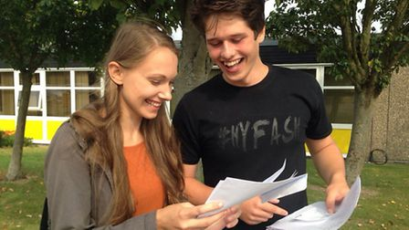 Students opened their results at Meridian School this morning.