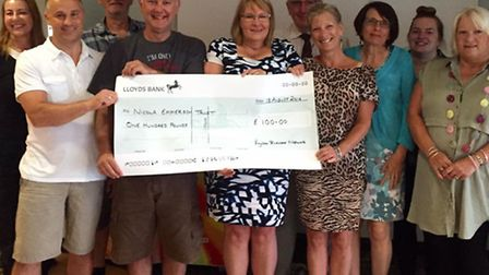 The Royston Business Network presented The Nicola Emmerson Trust with a cheque for £100.