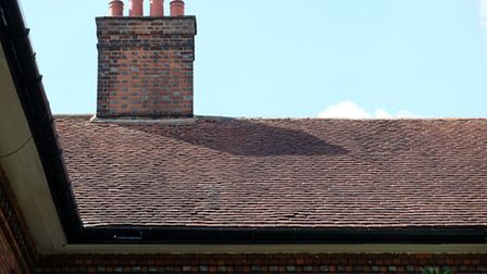 The roof of the Duchess of Marlborough's almshouse