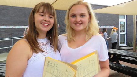 Ellen Jenkins and and Melissa Jakes from Bassingbourn Village College.