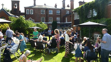 Around 150 people attended the celebratory garden party