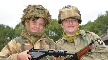 Ramsey Forties weekend, (l-r) Juan Parker, and Michael Downes, from Leicester 1940's Play Time