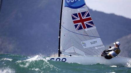 Giles Scott during the third day of Finn Class competition at the Olympic Games.
