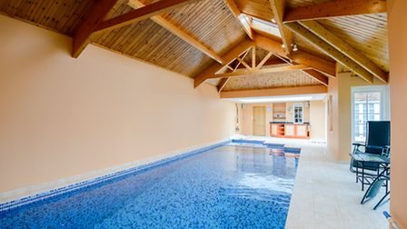 The pool and jacuzzi complete the luxurious set up