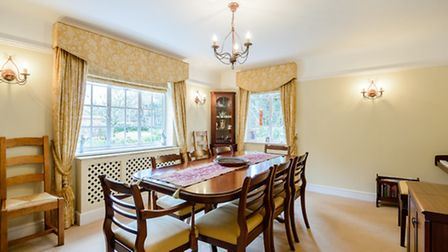 The dining room provides an ideal entertaining space