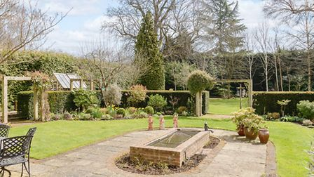 The stunning rear gardens face south east