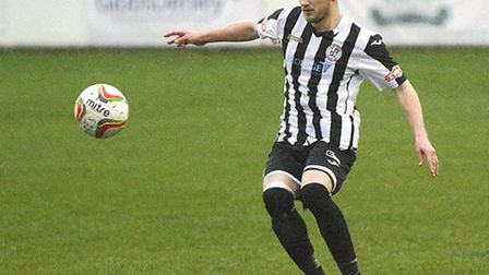 New Eynesbury Rovers signing Jack Warwick in action for previous club St Ives Town. Picture: LOUISE