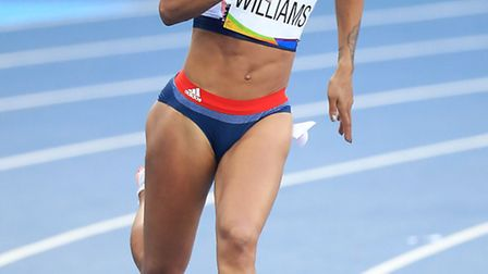 Great Britain's Jodie Williams in action during Heat 7 of the Women's 200m Round 1 at the Olympic St