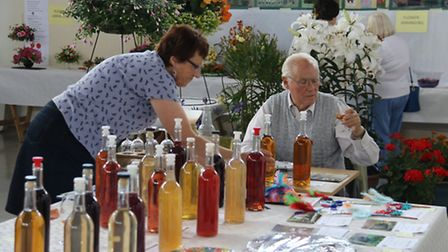 Fred Day judging the wines at this year's show. Picture: Jennifer Horn