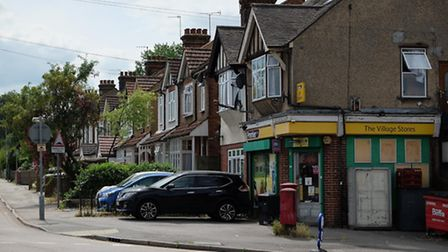 This corner shop is located on the corner of Camp Road and Cell Barnes Lane