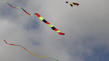 The kite festival was a great spectacle. PICTURE: Clive Porter.