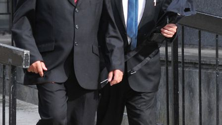 Steven Parkin (left) with his solicitor Henry Spooner on Monday July 25