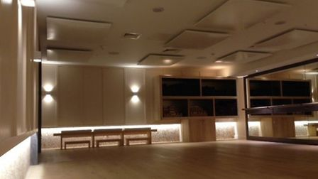 The youth gym will be changed in to a hot yoga studio similar to the picture