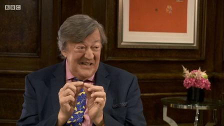 Stephen Fry has bemoaned 'Little England's' chances of going it alone. Picture: BBC