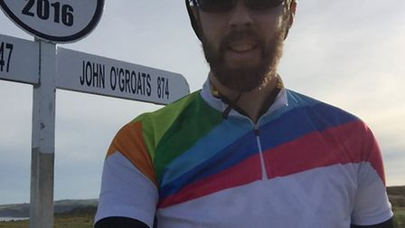 Matthew cycled from Land's End in Cornwall all the way to John O'Groats in Scotland by himself