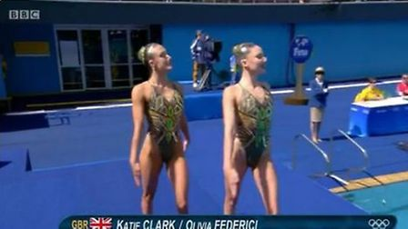 St Albans synchronised swimmer Olivia Federici misses out on a place in the final with duet partner
