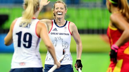 Hitchin's Helen Richardson-Walsh scored the second of GB's three goals against Spain in Rio. Picture