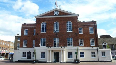 Huntingdon Town Hall, home of the town council.