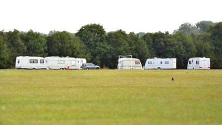 Travellers on St Neots Rugby Club.