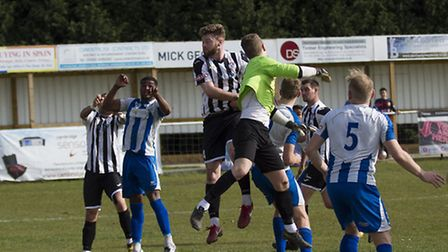 New captain Charlie De'Ath in action for St Ives Town last season. Picture: LOUISE THOMPSON