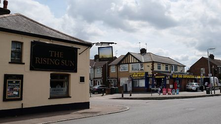 The Rising Sun pub is in the village centre, opposite the shop