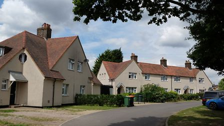 Some of the housing available in the village
