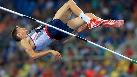 Robbie Grabarz during the men's high jump final in Rio last night. Picture: Mike Egerton/PA Wire