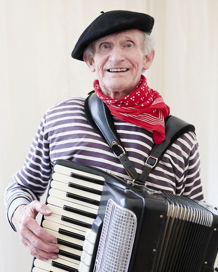 The Accordion Man is an iconic face throughout St Albans