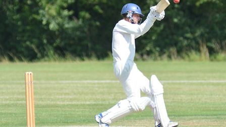 St Ives captain Ryan Withers deals with a high delivery during their win against Saffron Walden 2nds