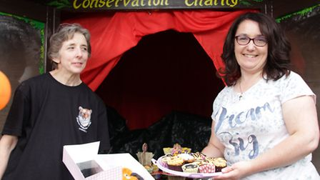 Bev Harding and Tracey Walsh rising well needed funds for the protection of Tigers in Sumatra and ot